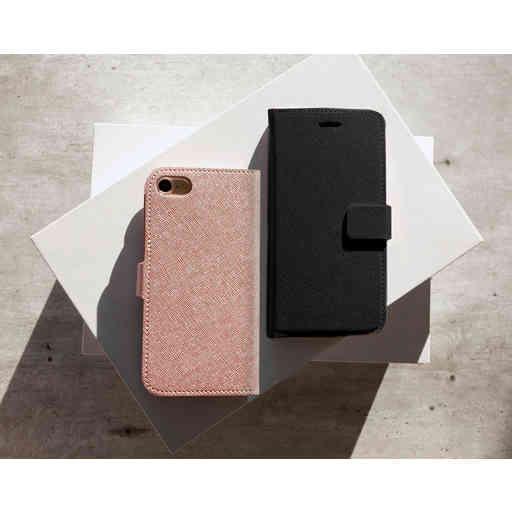 Mobiparts Saffiano Wallet Case Apple iPhone 7/8/SE (2020) Black