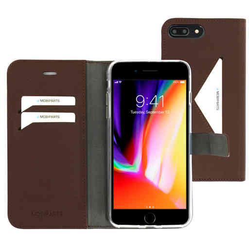 Mobiparts Classic Wallet Case Apple iPhone 7 Plus/ 8 Plus Brown