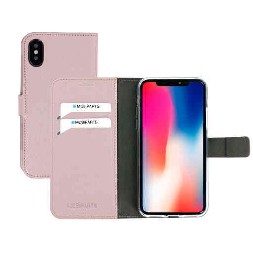 Mobiparts Saffiano Wallet Case Apple iPhone X Pink