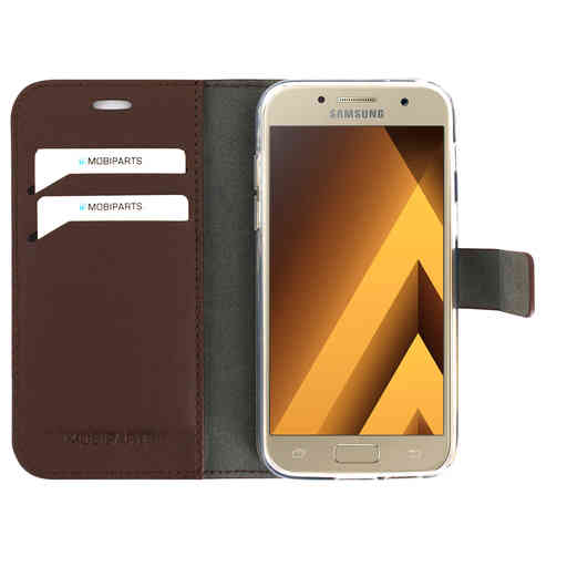 Mobiparts Classic Wallet Case Samsung Galaxy A3 (2017) Brown