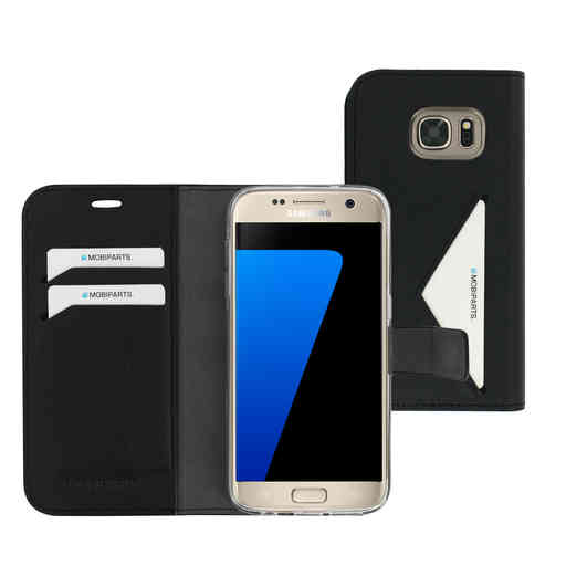 Mobiparts Classic Wallet Case Samsung Galaxy S7 Black