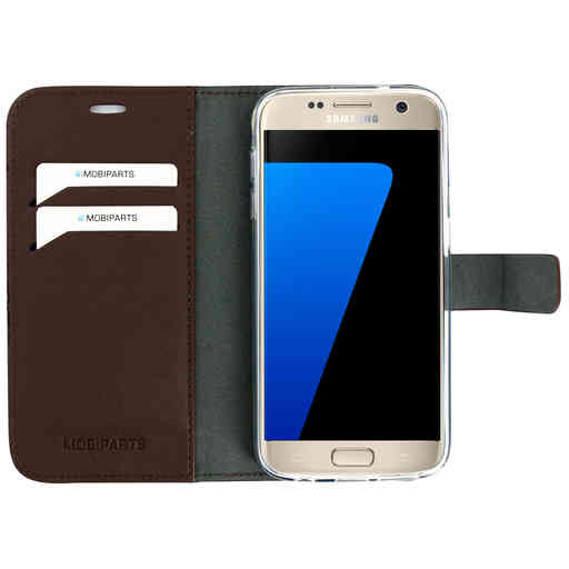 Mobiparts Classic Wallet Case Samsung Galaxy S7 Brown