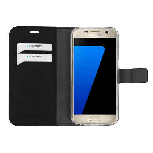 Mobiparts Saffiano Wallet Case Samsung Galaxy S7 Black