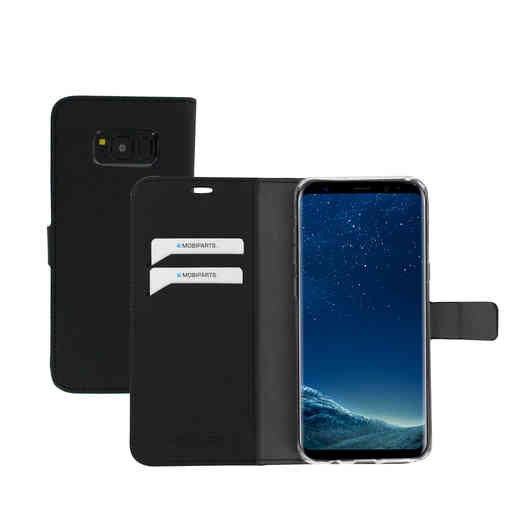 Mobiparts Saffiano Wallet Case Samsung Galaxy S8 Plus Black