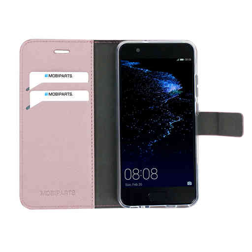 Mobiparts Saffiano Wallet Case Huawei P10 Pink