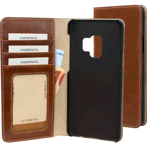Mobiparts Excellent Wallet Case Samsung Galaxy S9 Oaked Cognac