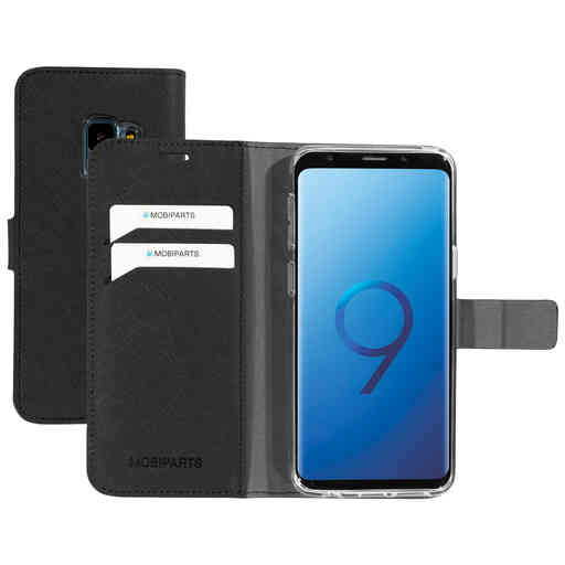 Mobiparts Saffiano Wallet Case Samsung Galaxy S9 Black