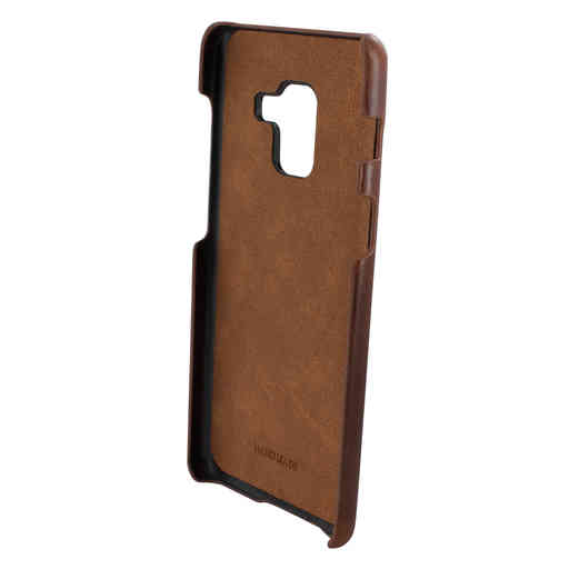 Mobiparts Excellent Backcover Samsung Galaxy A8 (2018) Oaked Cognac