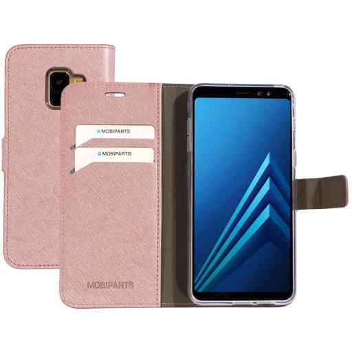 Mobiparts Saffiano Wallet Case Samsung Galaxy A8 (2018) Pink