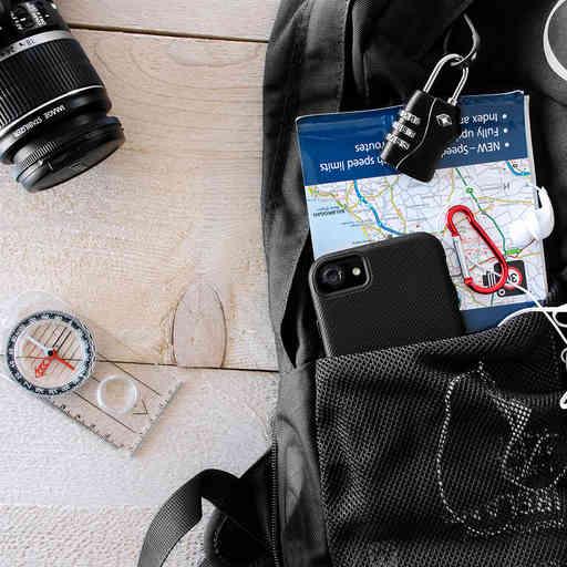 Mobiparts Rugged Tough Grip Case Apple iPhone 5/5S/SE Black