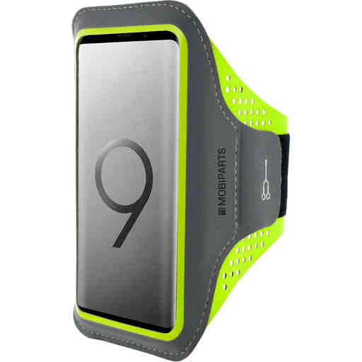 Mobiparts Comfort Fit Sport Armband Samsung Galaxy S9 Neon Green