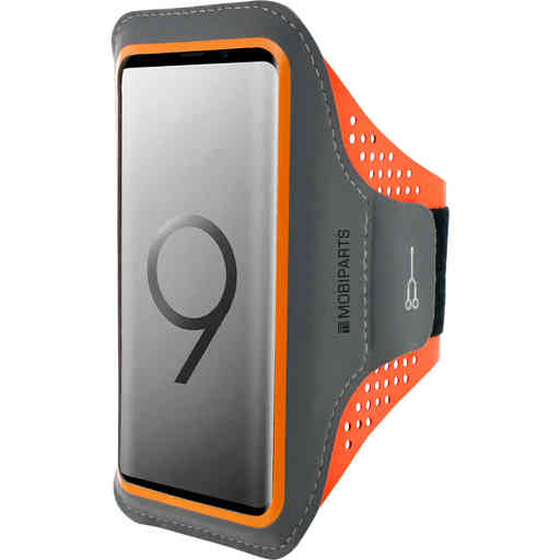 Mobiparts Comfort Fit Sport Armband Samsung Galaxy S9 Plus Neon Orange