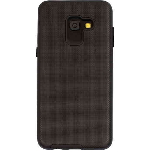 Mobiparts Rugged Tough Grip Case Samsung Galaxy A8 (2018) Black