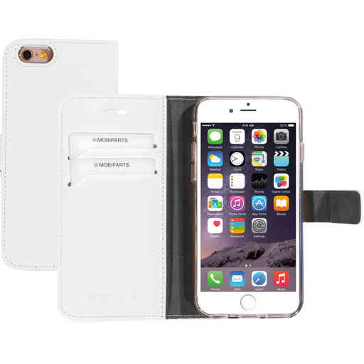 Mobiparts Saffiano Wallet Case Apple iPhone 6/6S White