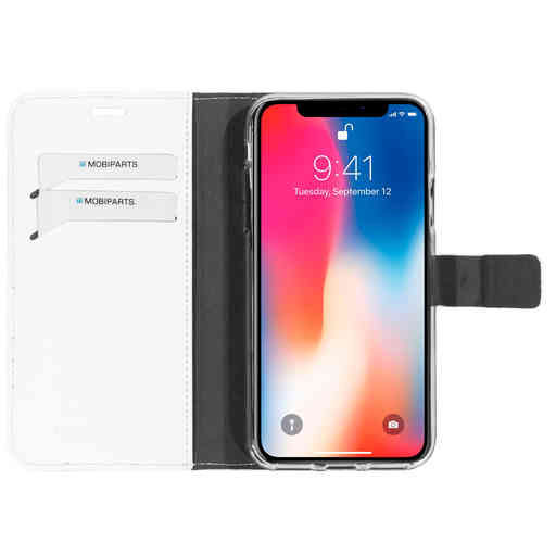 Mobiparts Saffiano Wallet Case Apple iPhone X/XS White