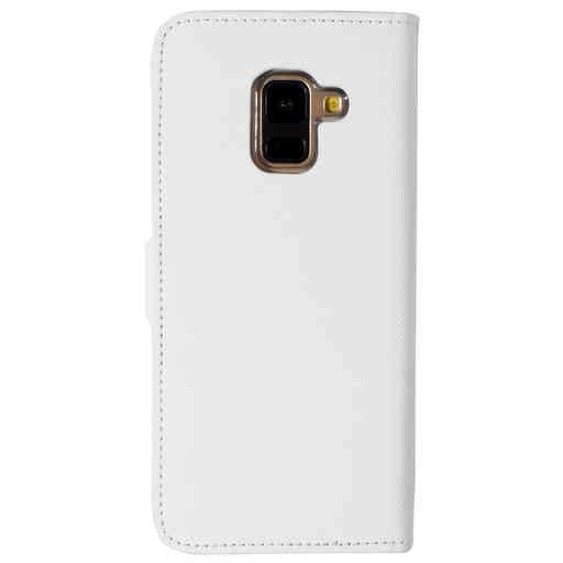Mobiparts Saffiano Wallet Case Samsung Galaxy A8 (2018) White