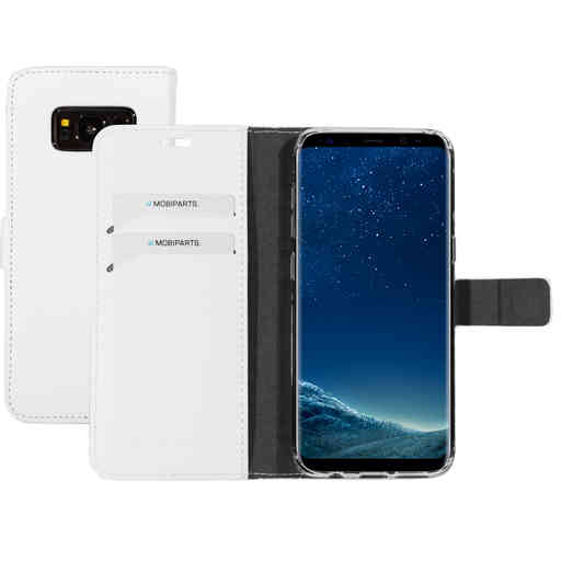 Mobiparts Saffiano Wallet Case Samsung Galaxy S8 White