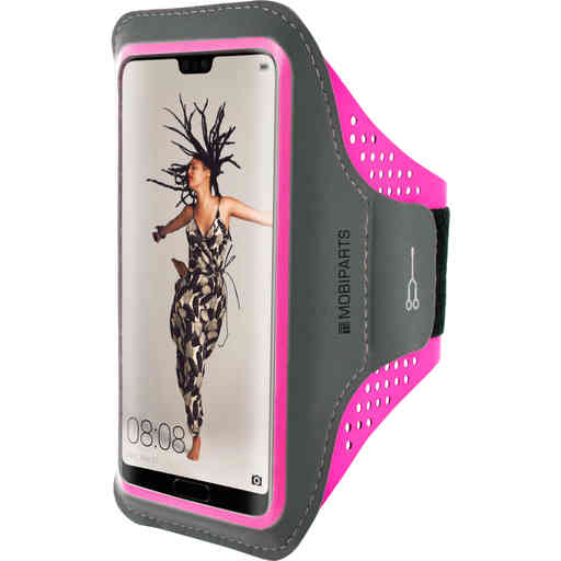 Mobiparts Comfort Fit Sport Armband Huawei P20 Neon Pink