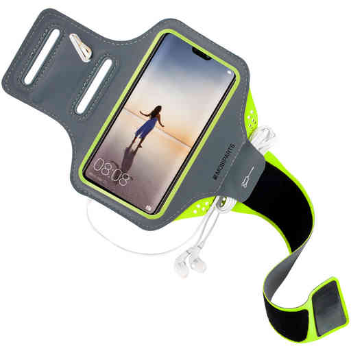 Mobiparts Comfort Fit Sport Armband Huawei P20 Lite Neon Green