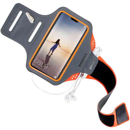 Mobiparts Comfort Fit Sport Armband Huawei P20 Lite Neon Orange