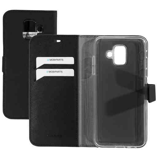 Mobiparts Saffiano Wallet Case Samsung Galaxy A6 (2018) Black