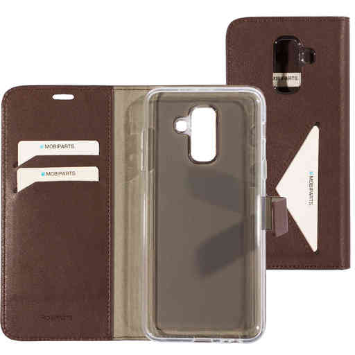 Mobiparts Classic Wallet Case Samsung Galaxy A6 Plus (2018) Brown