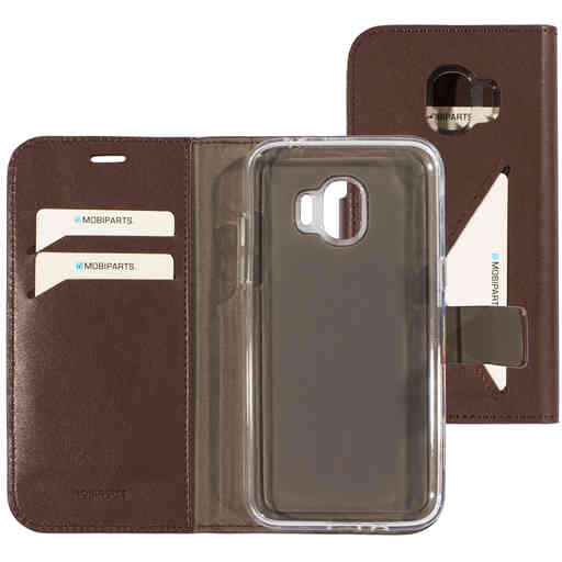 Mobiparts Classic Wallet Case Samsung Galaxy J2 Pro (2018) Brown