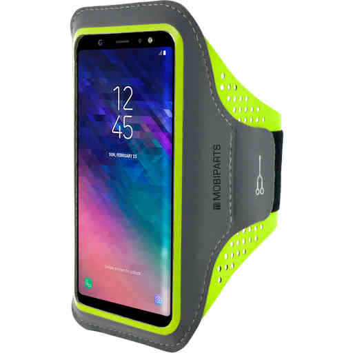Mobiparts Comfort Fit Sport Armband Samsung Galaxy A6 (2018) Neon Green