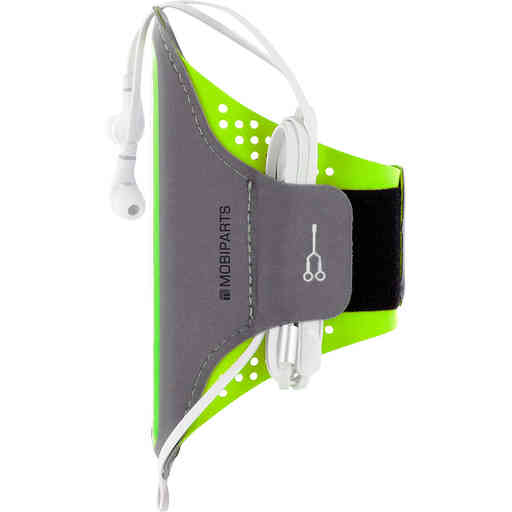 Mobiparts Comfort Fit Sport Armband Samsung Galaxy A6 Plus (2018) Neon Green