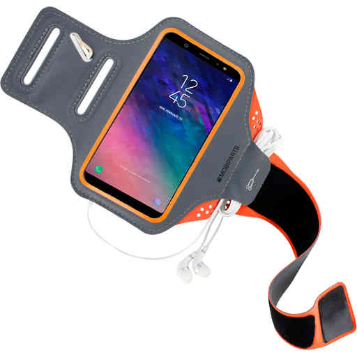 Mobiparts Comfort Fit Sport Armband Samsung Galaxy A6 Plus (2018) Neon Orange
