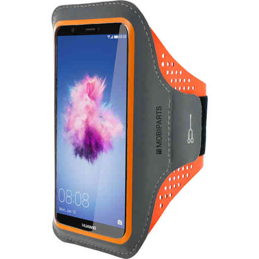 Mobiparts Comfort Fit Sport Armband Huawei P Smart Neon Orange