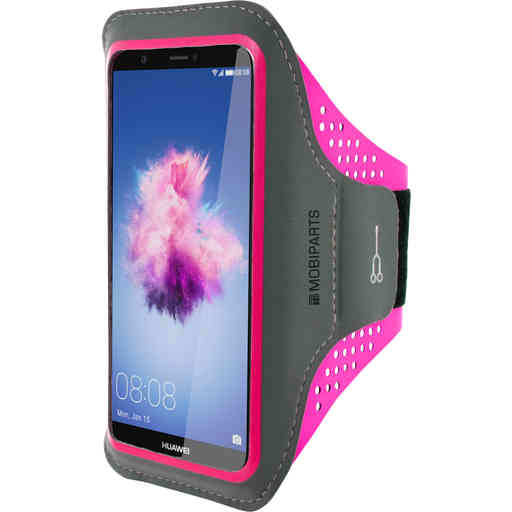 Mobiparts Comfort Fit Sport Armband Huawei P Smart Neon Pink