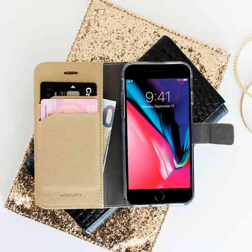Mobiparts Saffiano Wallet Case Samsung Galaxy S9 Gold