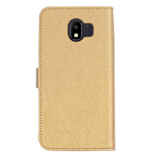 Mobiparts Saffiano Wallet Case Samsung Galaxy J4 (2018) Gold