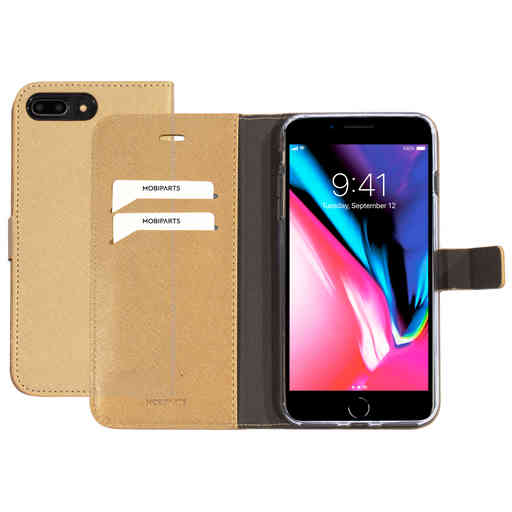 Mobiparts Saffiano Wallet Case Apple iPhone 7 Plus/ 8 Plus Gold