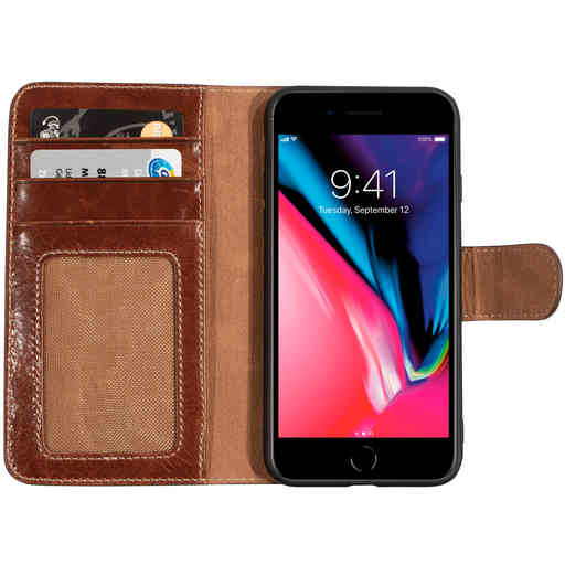 Mobiparts Excellent Wallet Case 2.0 Apple iPhone 7/8/SE(2020) Oaked Cognac