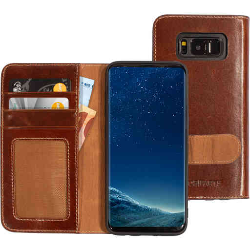 Mobiparts Excellent Wallet Case 2.0 Samsung Galaxy S8 Oaked Cognac