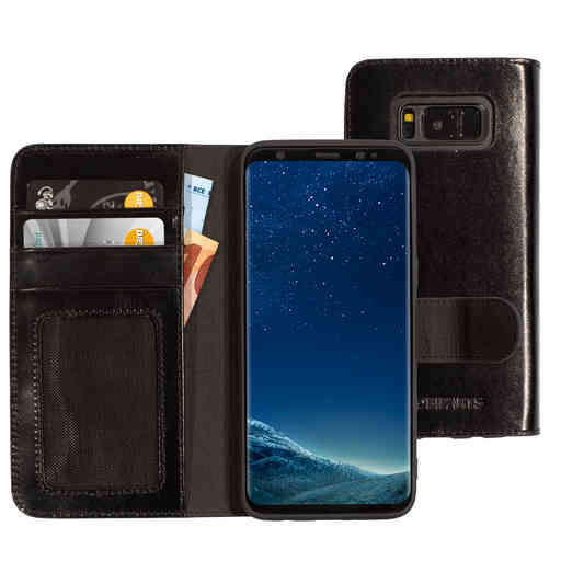 Mobiparts Excellent Wallet Case 2.0 Samsung Galaxy S8 Jade Black