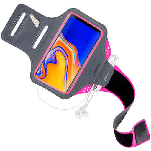Mobiparts Comfort Fit Sport Armband Samsung Galaxy J4 Plus (2018) Neon Pink