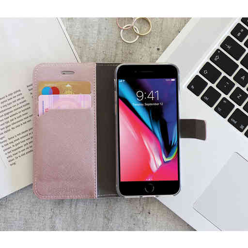 Mobiparts Saffiano Wallet Case Apple iPhone XR Pink