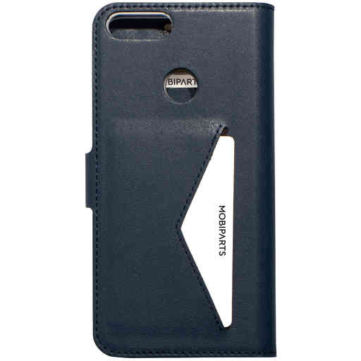 Mobiparts Classic Wallet Case Huawei P Smart (2018) Blue