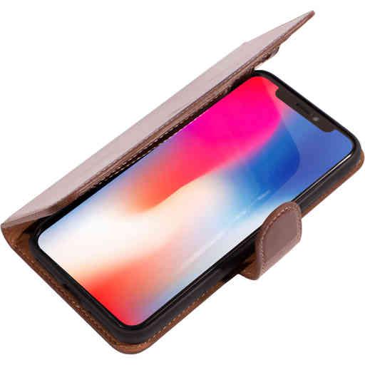 Mobiparts Excellent Wallet Case 2.0 Apple iPhone X/XS Oaked Cognac