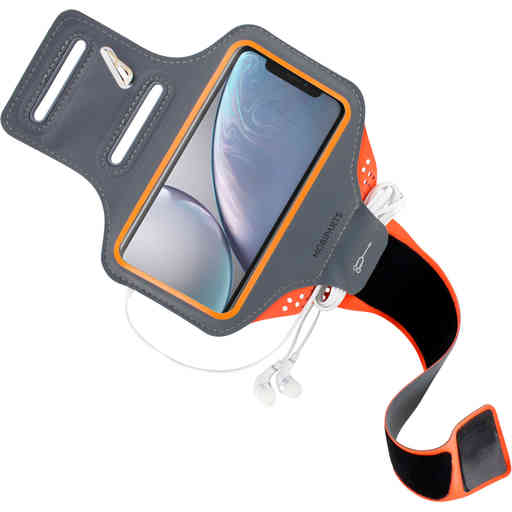 Mobiparts Comfort Fit Sport Armband Apple iPhone XR Neon Orange