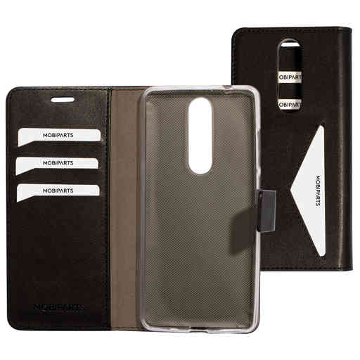 Mobiparts Classic Wallet Case Nokia 5.1 Black