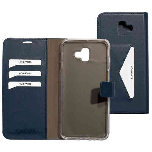 Mobiparts Classic Wallet Case Samsung Galaxy J6 Plus (2018) Blue