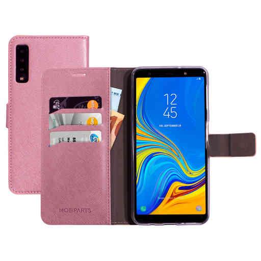 Mobiparts Saffiano Wallet Case Samsung Galaxy A7 (2018) Pink