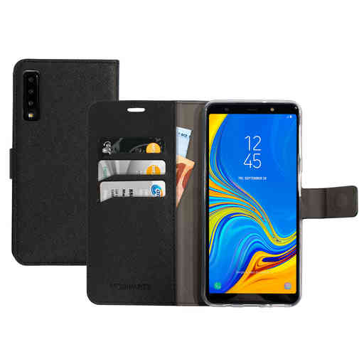 Mobiparts Saffiano Wallet Case Samsung Galaxy A7 (2018) Black