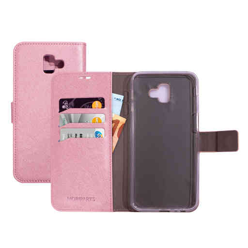 Mobiparts Saffiano Wallet Case Samsung Galaxy J6 Plus (2018) Pink