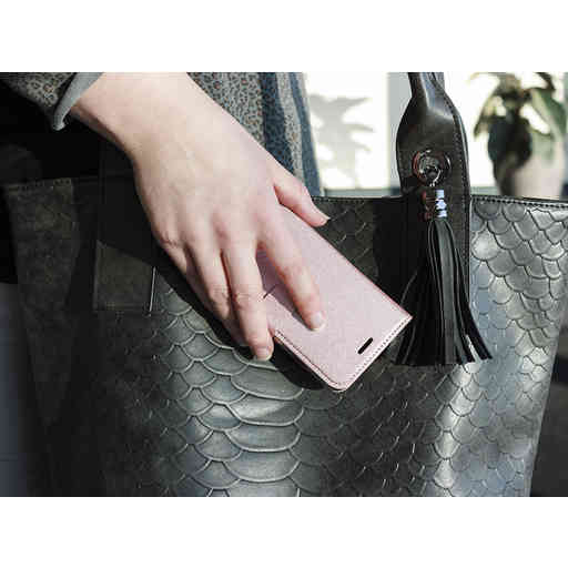 Mobiparts Saffiano Wallet Case Samsung Galaxy J6 Plus (2018) Pink