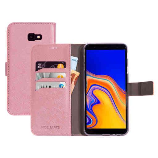 Mobiparts Saffiano Wallet Case Samsung Galaxy J4 Plus (2018) Pink